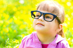 Child outdoors royalty free stock photos
