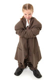 Child in Oversized Suit Royalty Free Stock Photo