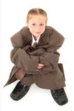 Child in Oversized Suit Royalty Free Stock Images