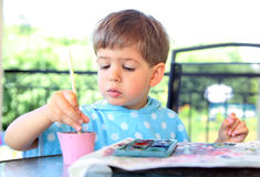 Child paint Royalty Free Stock Images