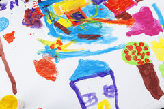 Child paint Stock Image