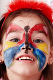 Child with paint of face. Royalty Free Stock Photo