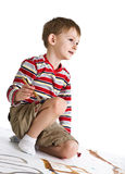 Child with paintbrush Royalty Free Stock Image