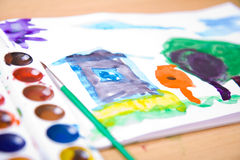 Child painted image Royalty Free Stock Images