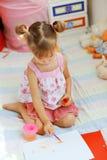 Child painting Stock Photo