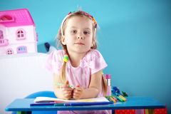 Child painting Royalty Free Stock Image