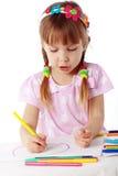 Child painting Stock Photos