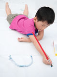 The child is painting Royalty Free Stock Image