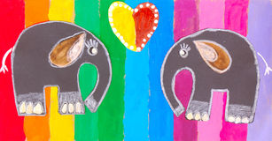 Child painting royalty free illustration