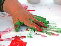 Child painting 3 royalty free stock photo