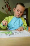 Child painting Stock Photos