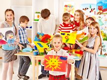 Free Child Painting At Art School. Stock Image - 27677471