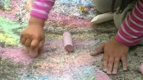 Child painting stock footage