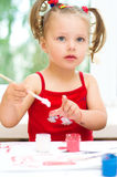 Child painting Royalty Free Stock Photos