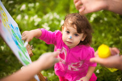 Child painting Stock Image