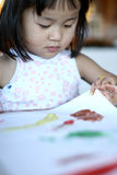 Child  & painting job Royalty Free Stock Photo