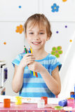 Child painting. In the kindergarten Royalty Free Stock Photography
