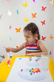 Child painting in playroom Stock Photography
