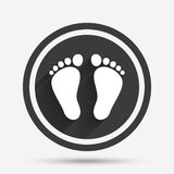Child pair of footprint sign icon. Barefoot . Royalty Free Stock Photo