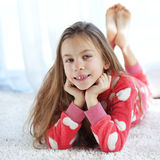 Child in pajamas Stock Image