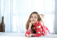 Child in pajamas Royalty Free Stock Image