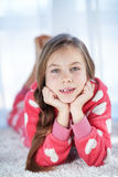 Child in pajamas Stock Photo