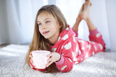 Child in pajamas Stock Photography