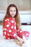 Child in pajamas Stock Images