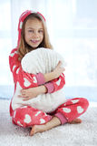 Child in pajamas Royalty Free Stock Images