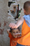 A Child in Palestinian Camp stock photo