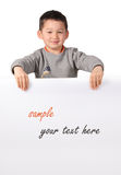 Child with a paper text free Stock Images