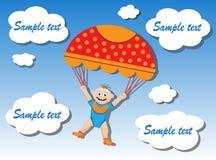 Child on a parachute Stock Photo