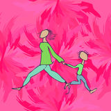 Child and parent in the store Royalty Free Stock Photo