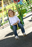 Child in park of attractions Royalty Free Stock Images