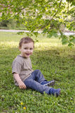Child in park or garden Royalty Free Stock Photography
