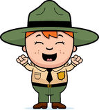 Child Park Ranger Excited Stock Images