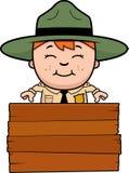 Child Park Ranger Sign Stock Images