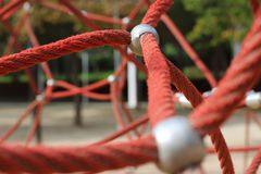 Child park - Ropes - Game for children royalty free stock photography