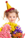 Child in party hat. Royalty Free Stock Images