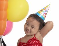 Child with party hat Royalty Free Stock Images