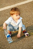Child on the path in the park. Stock Images