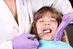 Child patient at the dentist Stock Photo