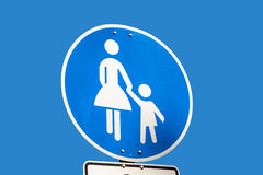 Child pedestrian roadsign Stock Photography
