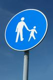 Child pedestrian roadsign Royalty Free Stock Photos