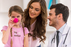 Child and pediatrician Royalty Free Stock Photo