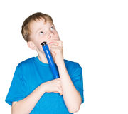Child with a pen in hand Royalty Free Stock Image