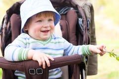 Child in the perambulator Stock Photos
