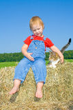Child and pet. Stock Photography