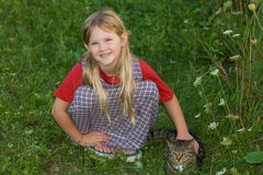 Child with pet. Stock Image