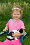 Child with pet. Stock Images